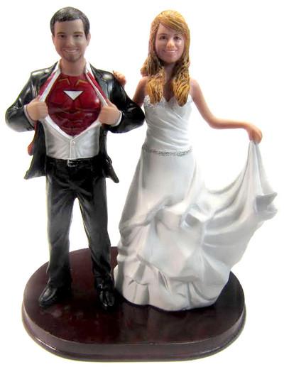 Custom Iron Man Wedding Cake Topper wInterchangeable Bride