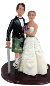 Scottish Couple Wedding Cake Topper
