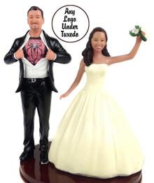 Big & Tall Superhero Groom w/ Interchangeable Bride Topper