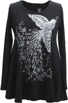 Metallic Dove Tunic