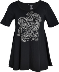 Paisley Birds (Black)