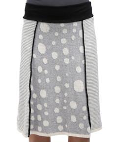 Dot Stripe 4-Panel Skirt