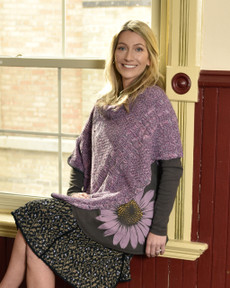 Lilac Space Dye Shoulder Warmer