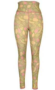 Fruit & Crosshatch Reversible Leggings