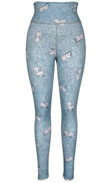 Kitty & Floral Reversible Leggings