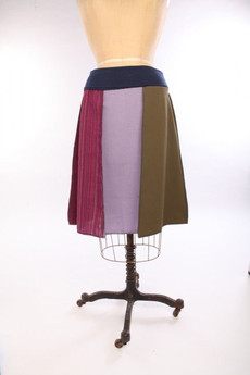 Knee-Length Woven Spring Skirt