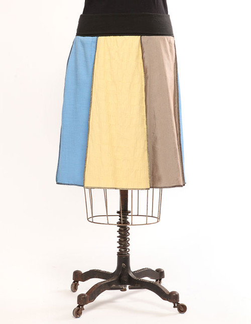 Woven Panel Short Skirt - Spring Multi
