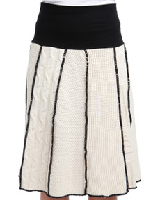 Natural Cotton Textured Skirt