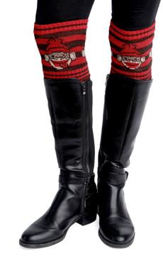 Sock Monkey Boot Cuffs