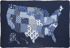 US Map Quilt Mid. Throw