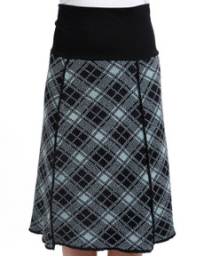 Plaid 4-panel Skirt (Soft Teal)