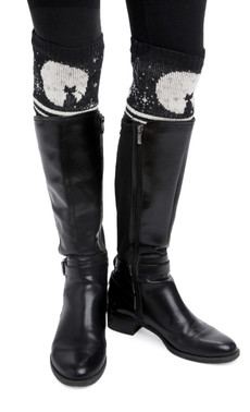 Cat Moon Boot Cuffs