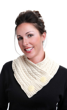 Natural Cotton Cable Neckwarmer