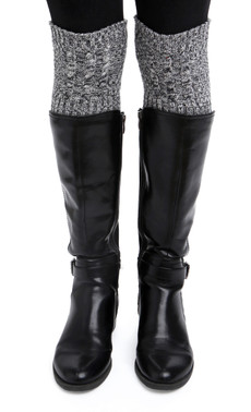 Space Dye Cable Boot Cuffs (Black)