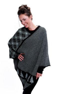 Tree Stripe Poncho