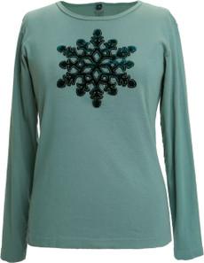 Appliqué Velvet Snowflake (Green)