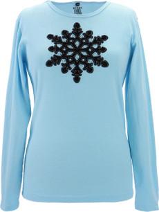 Appliqué Velvet Snowflake (Blue)
