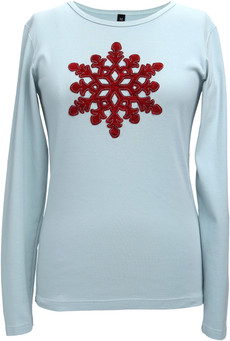Appliqué Velvet Snowflake (Soft Teal)