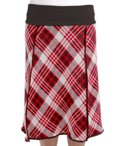 Vintage Plaid 4-panel Skirt