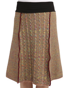 Space Dye 4-Panel Skirt (Maize)