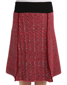 Space Dye 4-panel Skirt (Red)
