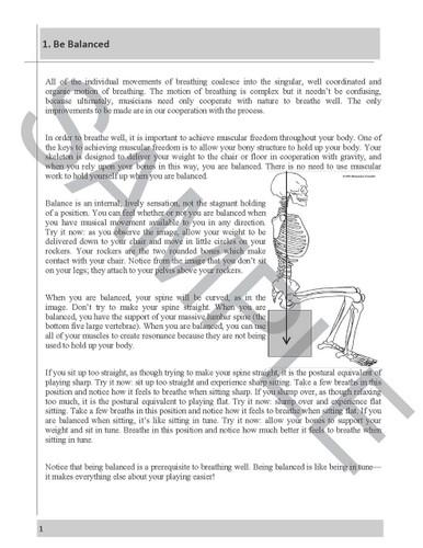 Breathing Book for Tenor Trombone