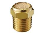 Sintered bronze breather vent brass body