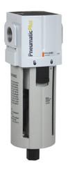 "PneumaticPlus PPF4-N04B Particulate Air Filter 1/2"" NPT, Poly Bowl, Manual Drain with Bracket"