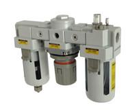 "PneumaticPlus SAU Series Filter Regulator Lubricator Combo (FRL) Unit 1/2"" NPT"