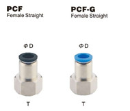 Push to Connect Composite Air Fitting - Female Straight