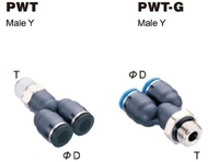 Push-To-Connect Fitting - Male Y
