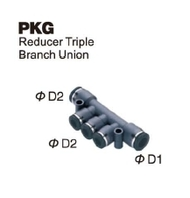 Push-To-Connect Fitting - Reducer Triple Branch Union