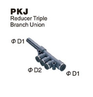 Push-To-Connect Fitting - Plug-In Reducer Triple Branch Union
