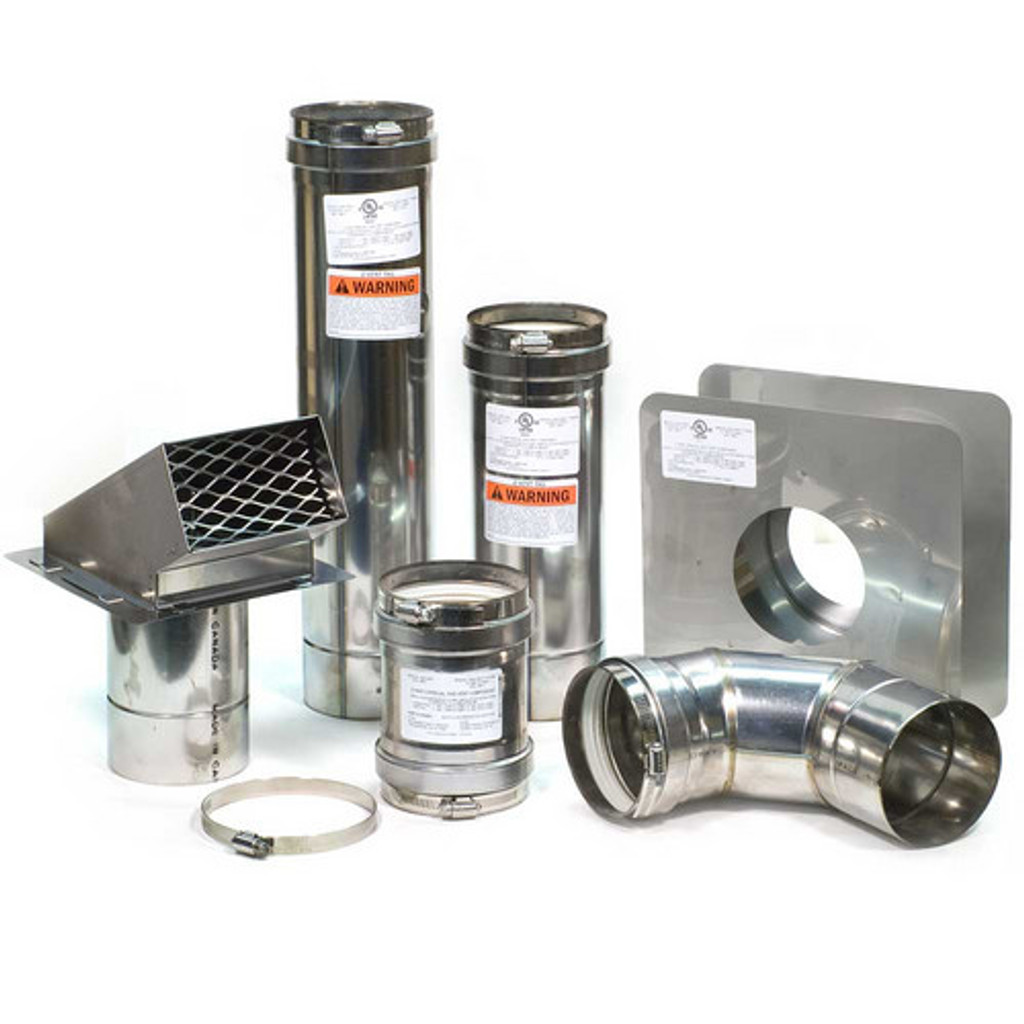 """4"""" Horizontal Z-Vent Water Heater Vent Kit with Backflow"""