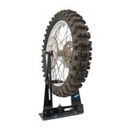 Motorcycle wheel tube change