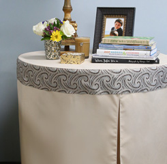 30 inch round fitted table cover
