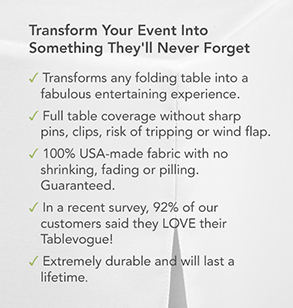 Transform your event into something they'll never forget