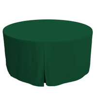 60-Inch Fitted Round Table Cover - Pine