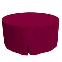 60-Inch Fitted Round Table Cover - Garnet