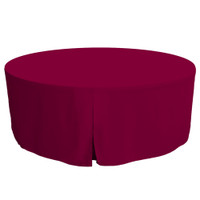 72-Inch Fitted Round Table Cover - Garnet