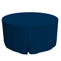 60-Inch Fitted Round Table Cover - Sapphire