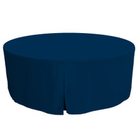 72-Inch Fitted Round Table Cover - Sapphire