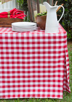 6-Foot Picnic Plaid Fitted Table Cover