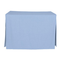 4-Foot Fitted Table Cover - Blue Chambray