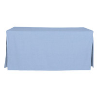 6-Foot Fitted Table Cover - Blue Chambray
