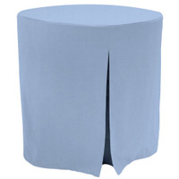 30-Inch Decorator Table Cover - Blue Chambray