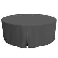 72-Inch Fitted Round Table Cover - Charcoal