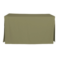 5-Foot Fitted Table Cover - Olive