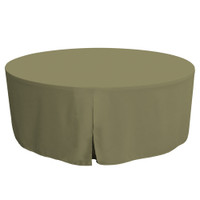 72-Inch Fitted Round Table Cover - Olive