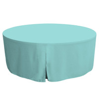 72-Inch Fitted Round Table Cover - Turquoise